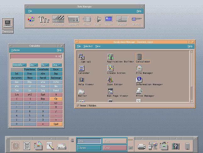 Jedno z najstarszych środowisk dla X - Common Desktop Environment