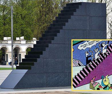 Schody donikąd... Pomnik mógł być zainspirowany komiksem o Tytusie?