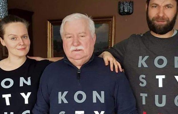 """Lech Wałęsa nie rezygnuje z akcji """"Konstytucja"""". Wspiera go rodzina"""