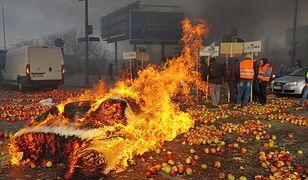 Plac Zawiszy - zdjęcie z protestu rolników, który odbył się 13 marca.