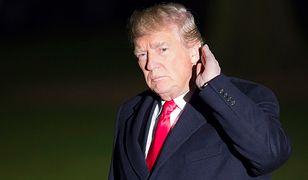 Donald Trump wracający do Białego Domu