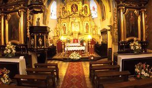 Wnętrze wpisanej do rejestru zabytków parafii św. Jana Chrzciciela w Pilicy