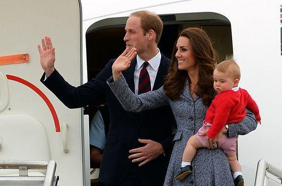 Kate Middleton z księciem Williamem i synkiem, Georgem