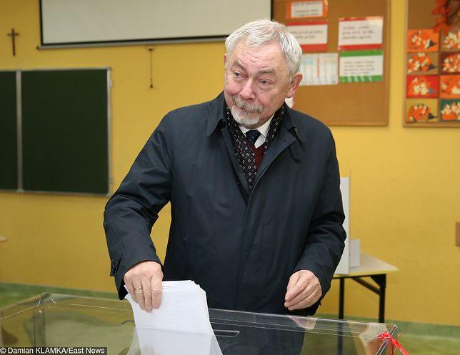Wybory samorządowe 2018. Głosowanie prezydenta Krakowa Jacka Majchrowskiego.