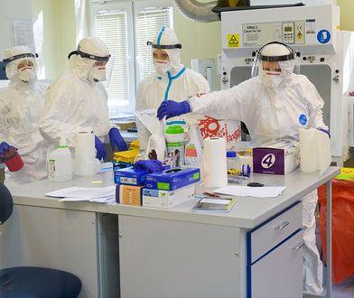 Epidemia w Polsce: Laboratorium diagnostyczne Wojewódzkiej Stacji Sanitarno-Epidemiologiczjej w Poznaniu, w którym dokonuje się badań próbek na obecność koronowirusa