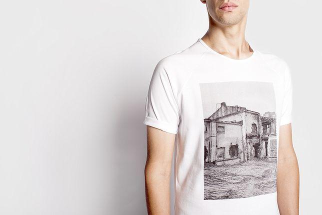 Miejskie fotografie Tomka Łaptaszyńskiego na koszulkach Bardzo rozsądnie