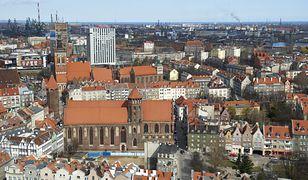 Panorama Gdańska, największego miasta Pomorza Gdańskiego