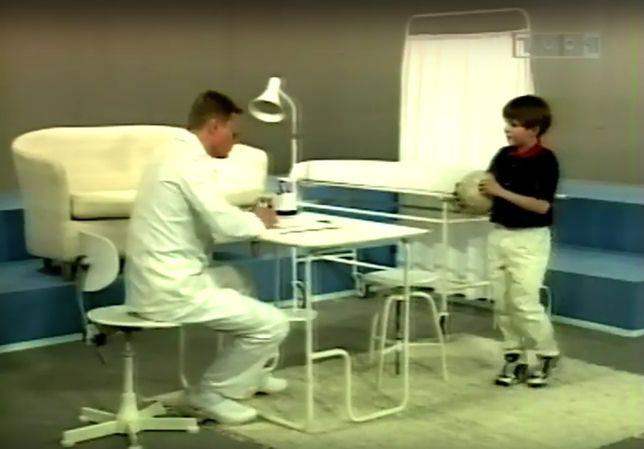 Dyzio i Doktorek odgrywają zabawną scenkę