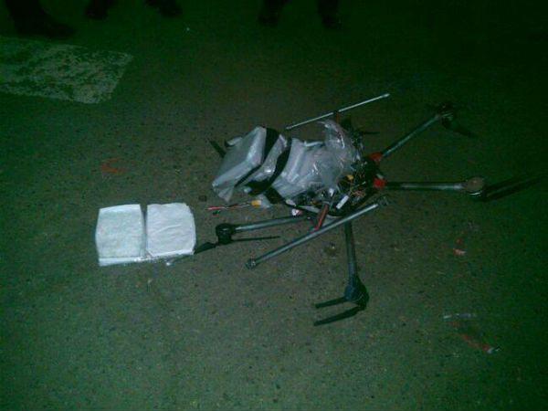 Dron z narkotykami spadł na parking przed supermarketem w meksykańskim mieście Tijuana