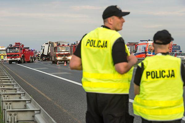 Karambol na autostradzie A4 pod Wrocławiem