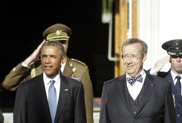 Prezydent USA Barack Obama i Estonii - Toomas Hendrik Ilves