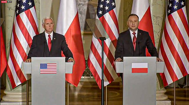 Po rozmowie Duda-Pence w cztery oczy zorganizowano konferencję prasową