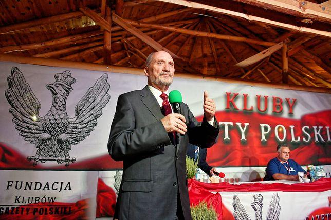 Antoni Macierewicz podczas IV Nadzwyczajnego Zjazdu Klubów Gazety Polskiej w Sulejowie.