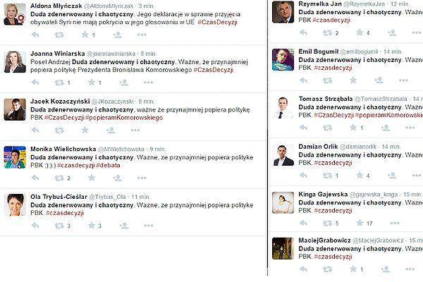 Wybory prezydenckie 2015. Wpadka zwolenników Komorowskiego na Twitterze