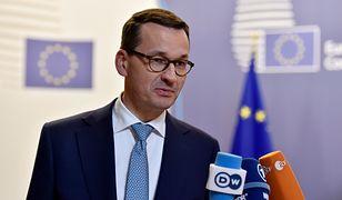 Premier Mateusz Morawiecki po szczycie UE w Brukseli
