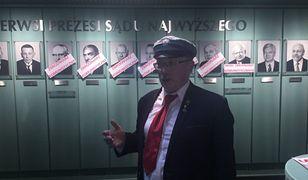 Adam Słomka i działacze KPN protestowali w holu SN