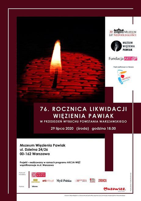 Warszawa. W środę odbędą się obchody rocznicy likwidacji Pawiaka