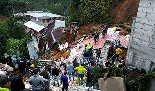 Kolumbia. Lawina błotna porwała domy i zabiła 12 osób, w tym 4 dzieci