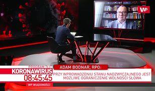 Koronawirus w Polsce. Andrzej Duda daje zły przykład? Adam Bodnar: to jest dylemat