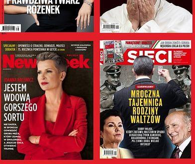 Racewicz, Rozenek, Franciszek i Waltzowie - bohaterami okładek tygodników