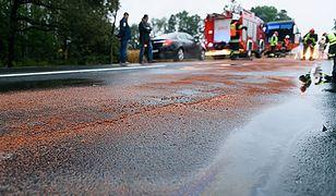 Łaziska: wypadek na Lubelczyźnie. Ciężarówka uderzyła w busa