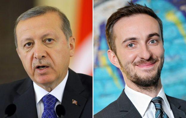 Na zdjęciu od lewej: Recep Tayyip Erdogan i Jan Boehmermann
