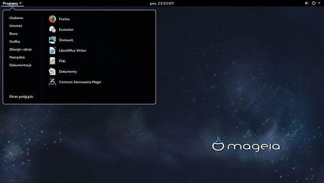 Klasyczne menu w GNOME