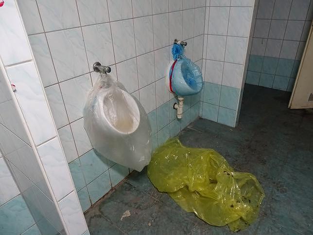 Tak wyglądała toaleta na komisariacie Wrocław-Fabryczna