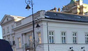 Zielone ludziki na dachu to najprawdopodobniej  snajperzy Służby Ochrony Państwa