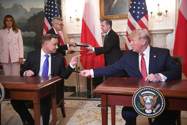 """Zadowolony Andrzej Duda pisze z USA. """"Tak trzymać i do przodu"""""""