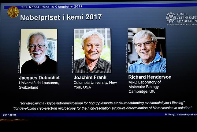 Jacques Dubochet, Joachim Frank i Richard Henderson - laureaci tegorocznej nagrody Nobla