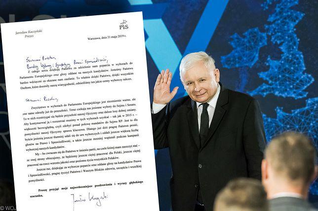 List Kaczyńskiego do Polaków. Ma prośbę