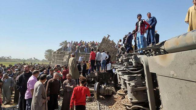 Katastrofa kolejowa w Egipcie na północ od miasta Sauhadż