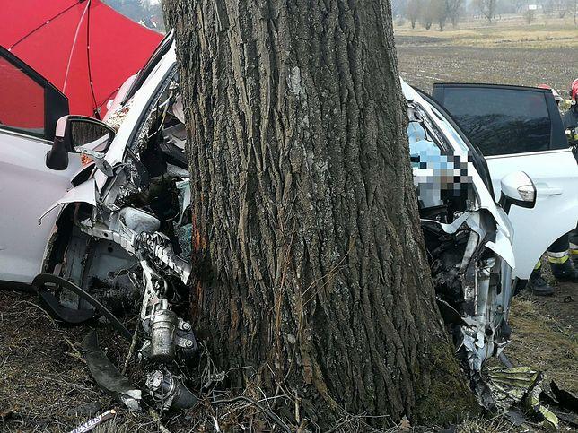 Kierowca i pasażerowie zginęli na miejscu