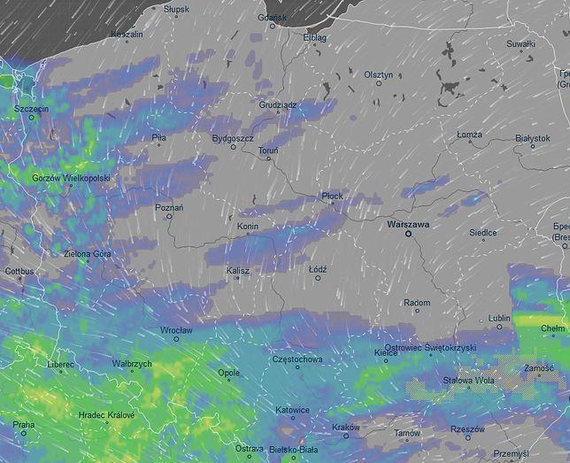 Pogoda, mapa opadów - 29.04.2019 r.