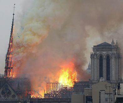 Paryż: pożar w katedrze Notre Dame