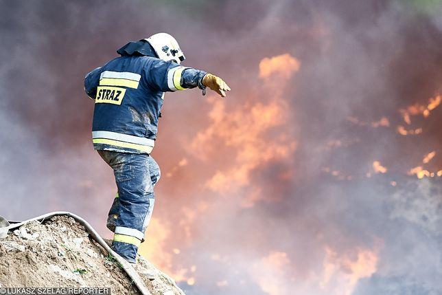 Ogromny pożar na polu uprawnym w Wielkopolsce