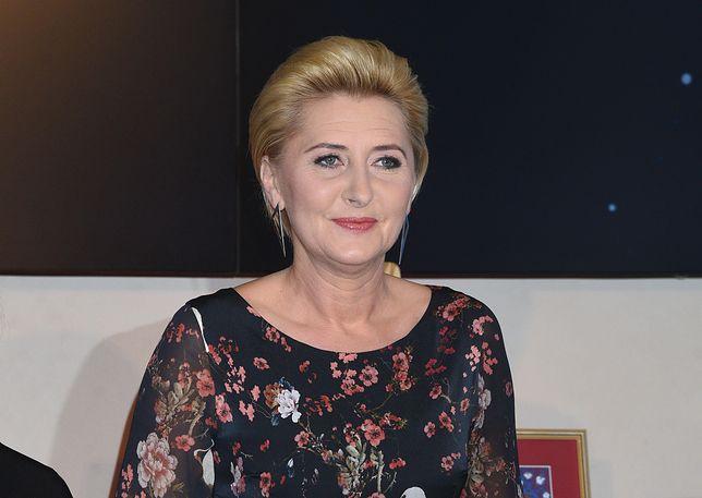 Agata Duda odwiedziła Klub Seniora
