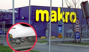 Do utarczki słownej pomiędzy kierowcami doszło na parkingu Makro w Warszawie