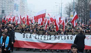 """W """"Biało-czerwonym marszu"""" uczestniczyło 250 tys. osób"""