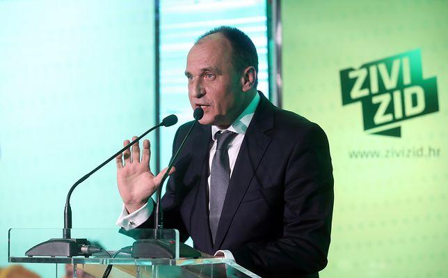 Paweł Kukiz podczas spotkania z chorwackimi radykałami w Zagrzebiu