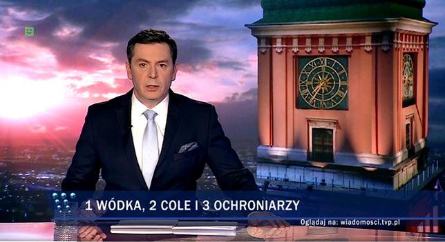 """Kadr w niedzielnego wydania """"Wiadomości"""" TVP"""