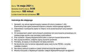 Matura 2021 z chemii. Arkusze CKE i odpowiedzi