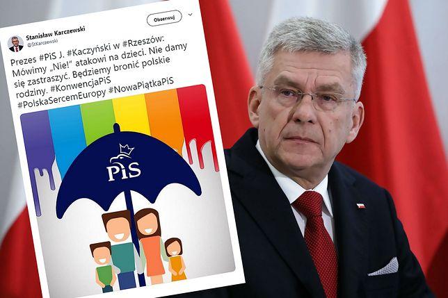 Stanisław Karczewski wrzuca do sieci grafikę. Wywołuje burzę