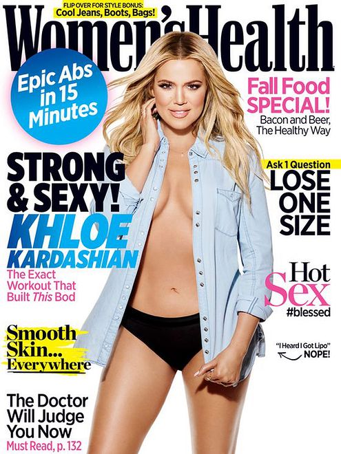 Khloe Kardashian we wrześniowym wydaniu Women's Health