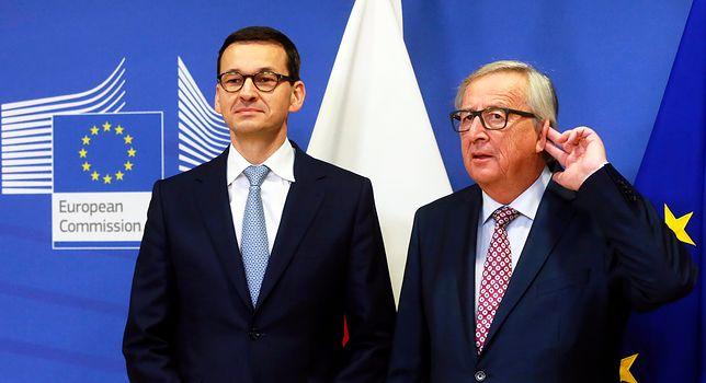 Mateusz Morawiecki i Jean-Claude Juncker rozmawiali w kuluarach unijnego szczytu ws. brexitu