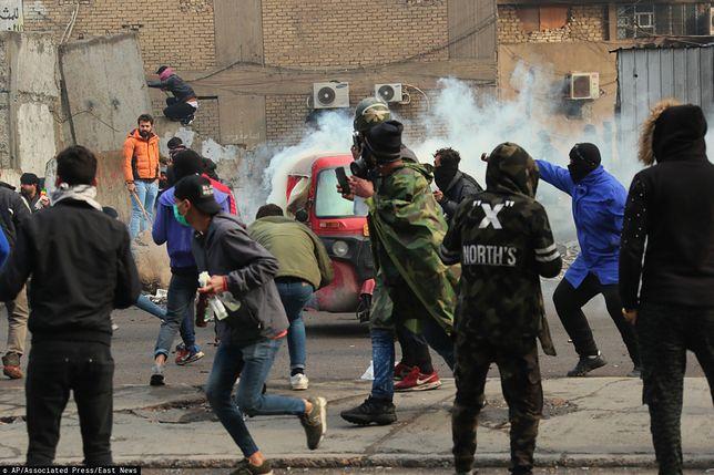 Irak. Gwałtowne zamieszki w Bagdadzie, są ranni
