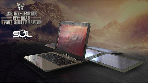 Laptop solarny z Ubuntu będzie działać 10 godzin po 2 godzinach ładowania