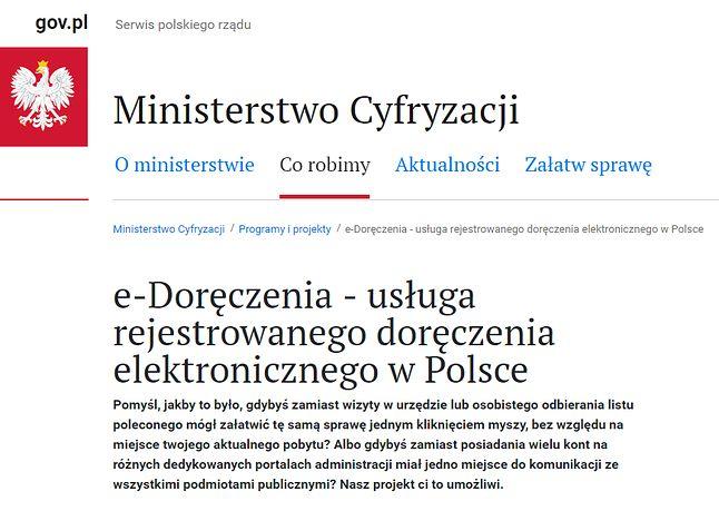 Szczegóły projektu przedstawiane są na stronie Ministerstwa Cyfryzacji.