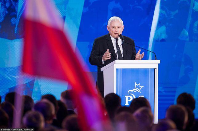 Jarosław Kaczyński na konwencji w 2018 r.